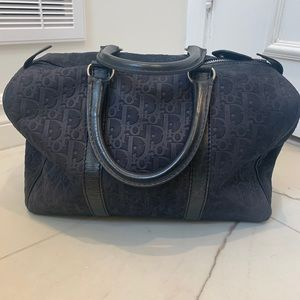 Authentic Dior suede/leather Boston Trotter bag.